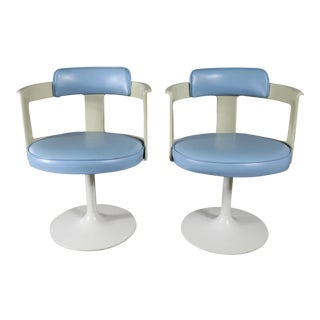 Daystrom Furniture Tulip Style Swivel Chairs - A Pair For Sale