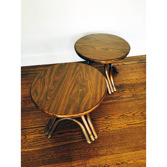 Vintage Bentwood Side Tables - Pair - Image 6 of 6