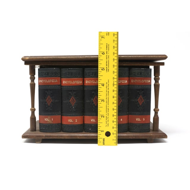 Vintage Japanese Wood and Leather Library Liquor Box With Original Glassware For Sale - Image 10 of 12