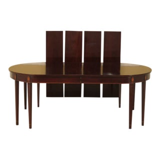 Kindel Federal Inlaid Mahogany Dining Room Table