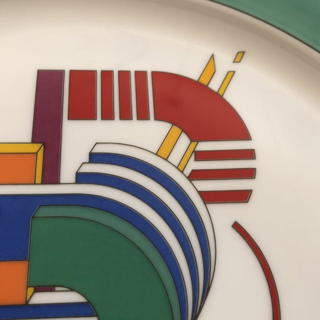 1970s Vintage Rosenthal Germany Signed Marcello Morandini Alphabet Plate For Sale - Image 5 of 11