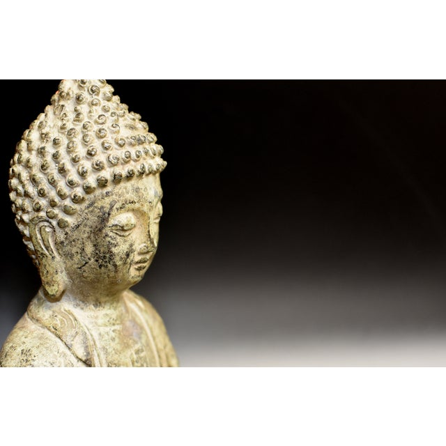 19th Century Antique Bronze Buddha Statue For Sale - Image 9 of 13