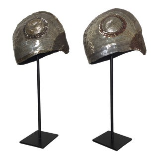 Antique Early 20th Century German Goldhaube - a Pair For Sale