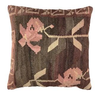 "Rustic Rose Kilim Pillow | 20"" For Sale"