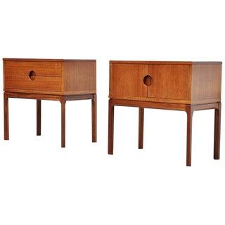 Aksel Kjersgaard Night Cabinets for Odder, Denmark, 1955