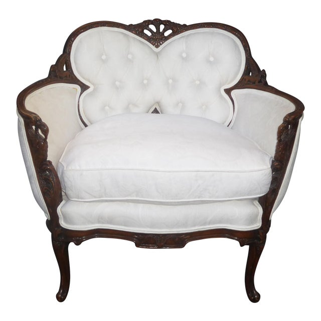 White French Rococo Ornate Chair For Sale