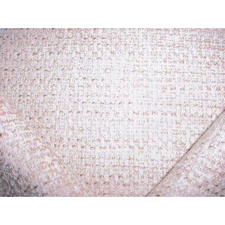 Osborne Little Vence Ivory Textured Chenille Upholstery Fabric- 3-1/2 Yards For Sale