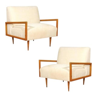 Restored Pair of Maple Cube Loungers in the Style of Paul McCobb For Sale