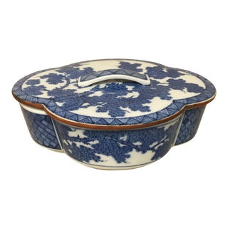 Chinoiserie Fitz & Floyd Blue & White Box & Lid