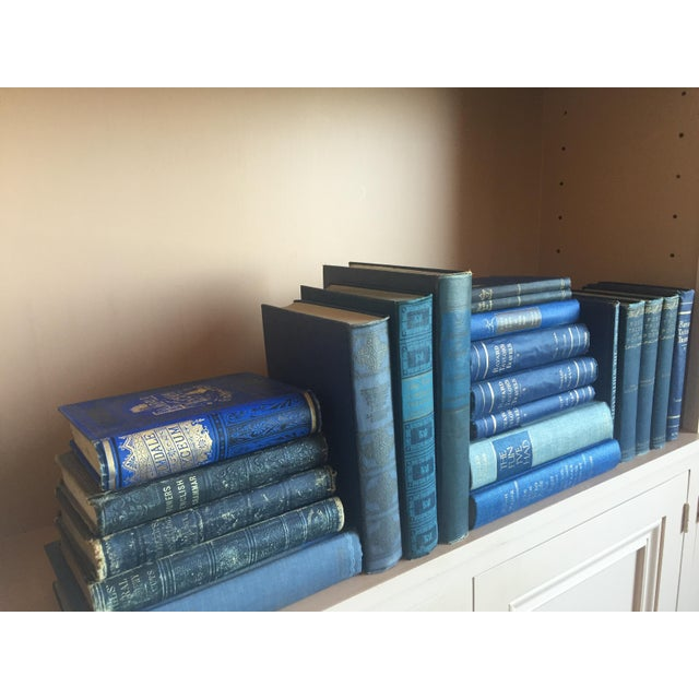 Collection of Blue Antique Books - Set of 21 - Image 3 of 4