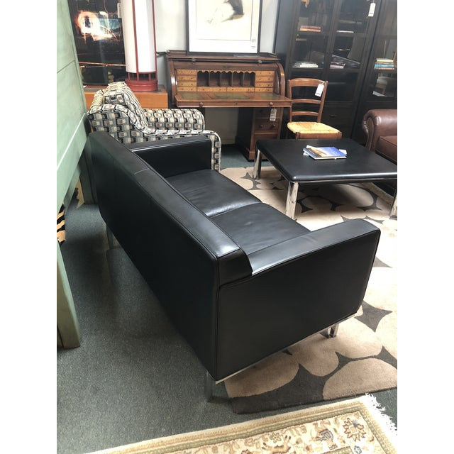 Modern Design Within Reach by American Leather Ted Boerner Theatre Two-Seat Sofa For Sale - Image 3 of 13