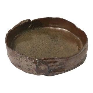 Ceramic Brutalist Low Bowl