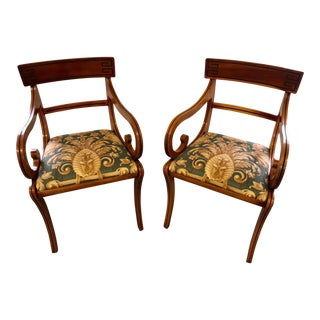 Regency Wood Armchairs - A Pair
