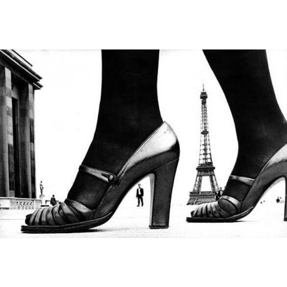 Paris Shoe and Eiffel Tower A, black and white photography by Frank Horvat - Image 2 of 3