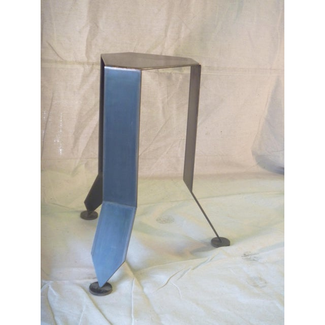 Art Deco Bronze & Steel Foliage Table For Sale - Image 3 of 6