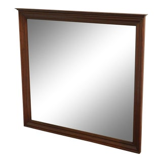 Traditional Cherry Wood Frame Beveled Mirror For Sale