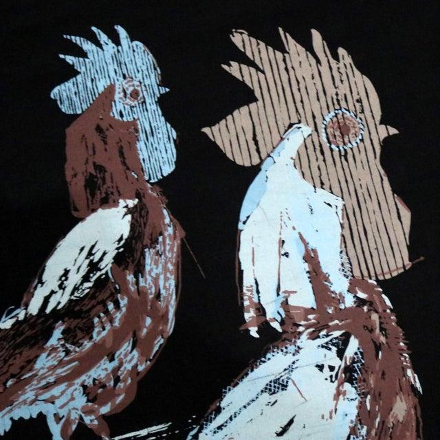 Robert Bushong Silkscreen Wall Scroll Chanticleer for Tom Tru Raymor Mid Century Modern For Sale - Image 11 of 13