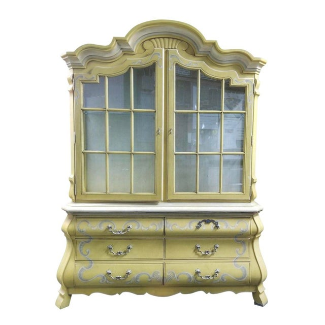Drexel French Country Yellow China, French Country China Cabinet