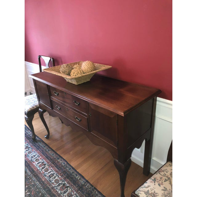 Queen Anne Craftique Mahogany Buffet Server For Sale - Image 3 of 9