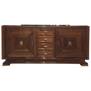 French Art Deco Buffet with Marble Top