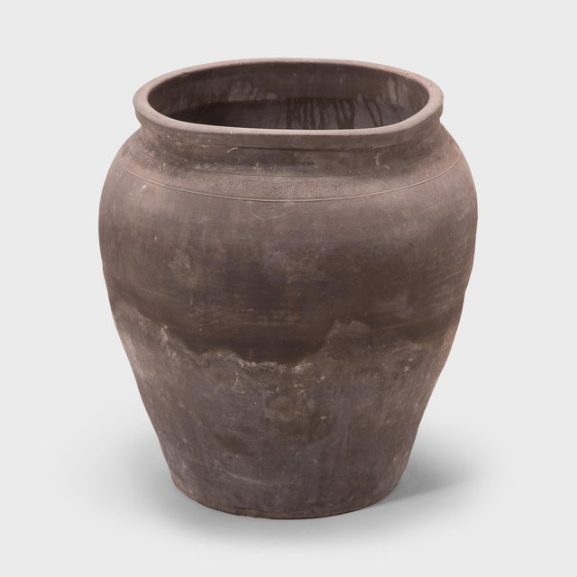 Early 20th Century Tapered Terracotta Storage Jar For Sale - Image 5 of 5