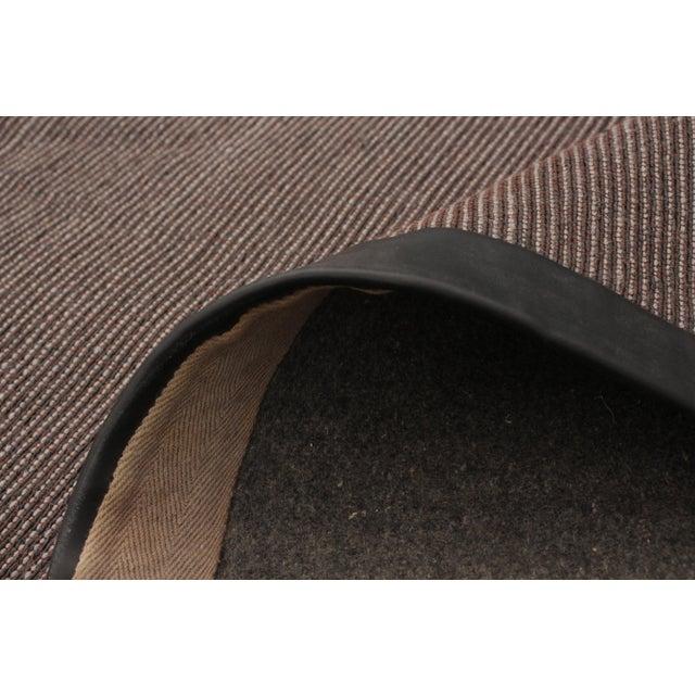 "Brown Handmade Jute Black and Brown Rug-8'10"" X 11'6"" For Sale - Image 8 of 9"