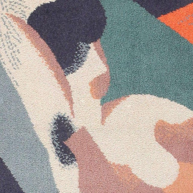 After artist René Magritte (1923) and woven by Axminster, Ege, Scandinavia is known for their Rya and Rollakan...