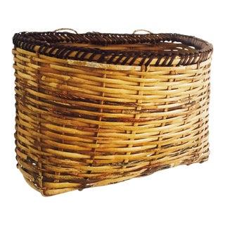 Vintage Wall Pocket Basket