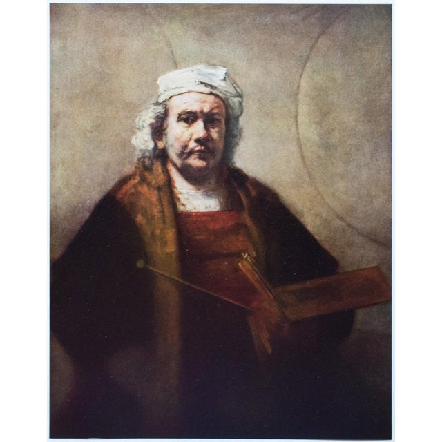 A rare vintage tipped-in photogravure after Self-Portrait by Rembrandt. Comes from a folio published in the mid 1950s....
