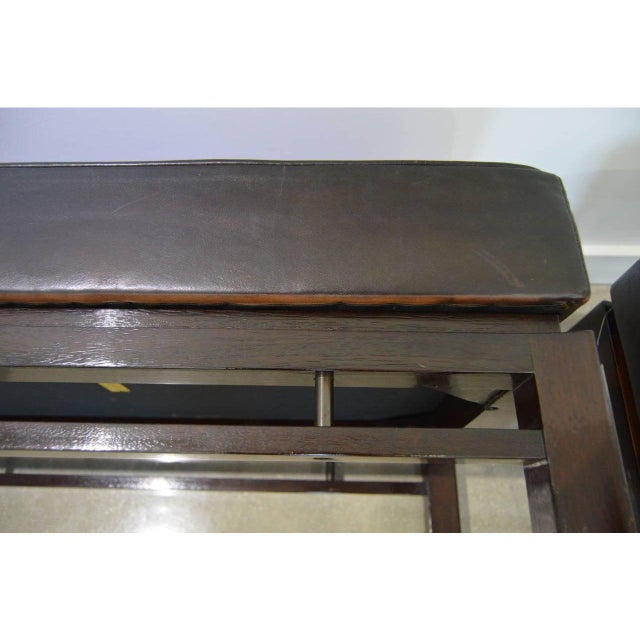 Mid-Century Modern Edward Wormley for Dunbar Benches - a Pair For Sale - Image 9 of 12