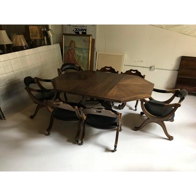 Brass Drexel Heritage Hispania Dining Set For Sale - Image 7 of 13