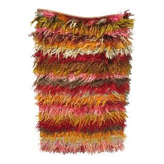 Vintage Tulu Shag Rug 3′ × 4′8″ For Sale