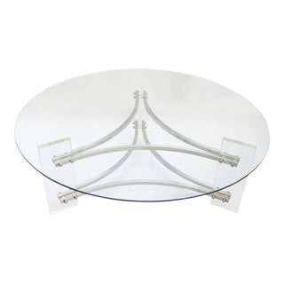 Glass & Lucite Coffee Table by Charles Hollis Jones