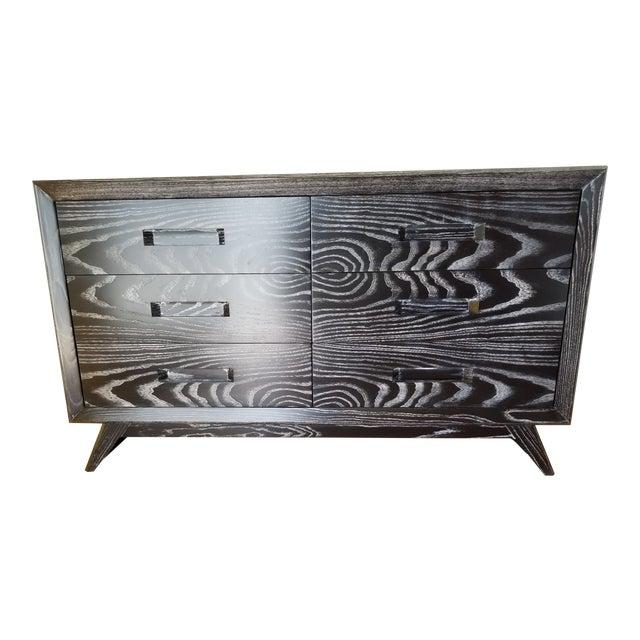 Mid Century Black Ceruse Dresser For Sale