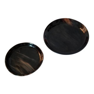 Lewes Round Tray Set - a Pair For Sale