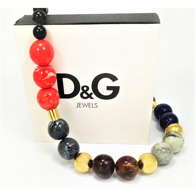 Contemporary Giant Viintage Dolce & Gabbana Necklace With Box and Tags For Sale - Image 3 of 6