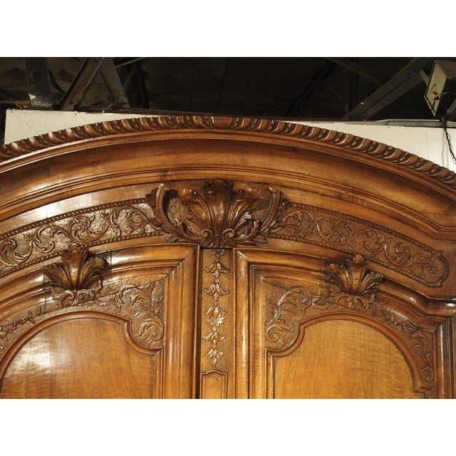 """Walnut Early 1700's French Walnut Wood Chateau Armoire, """"The Order of Saint Louis"""" For Sale - Image 7 of 11"""