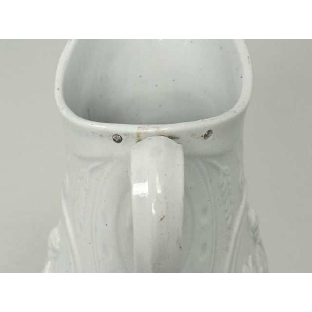 """White English Staffordshire Pitcher """"Old Mother Hubbard"""" For Sale - Image 8 of 11"""