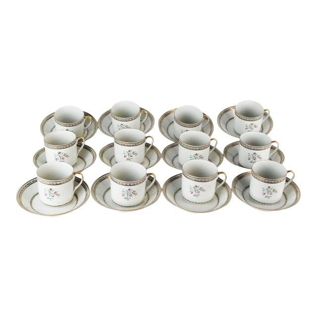 Vista Algere Cups & Saucers - Set of 12 For Sale