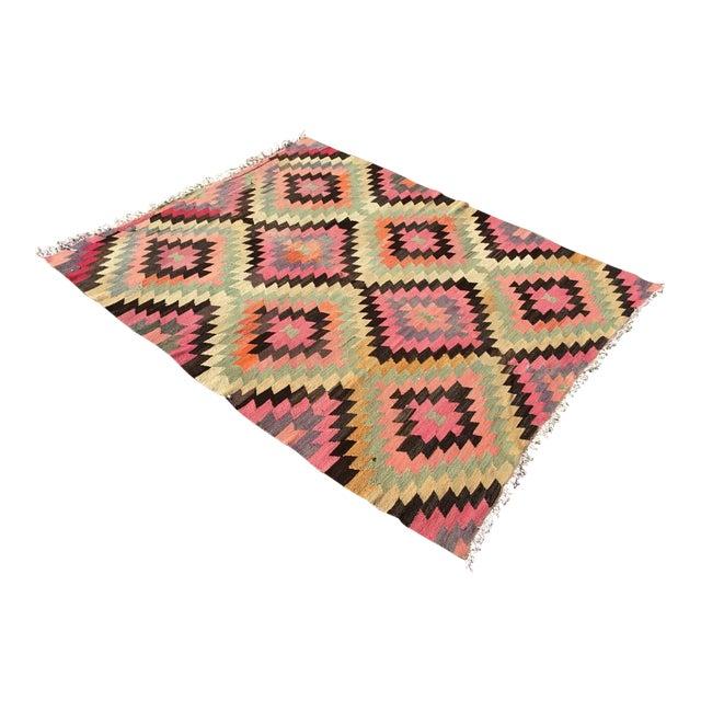 Diamond Design Kilim Rug For Sale