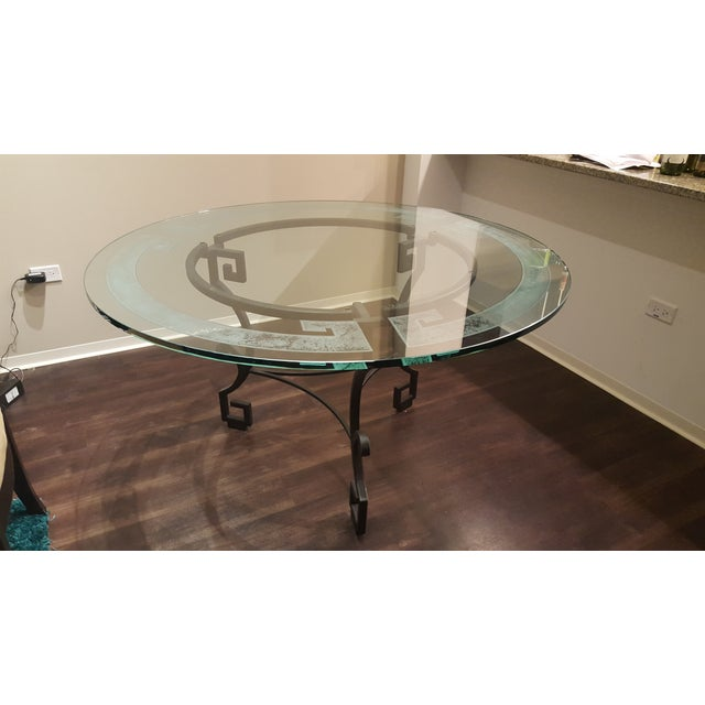 Circular Glass Dining Table - Image 3 of 4