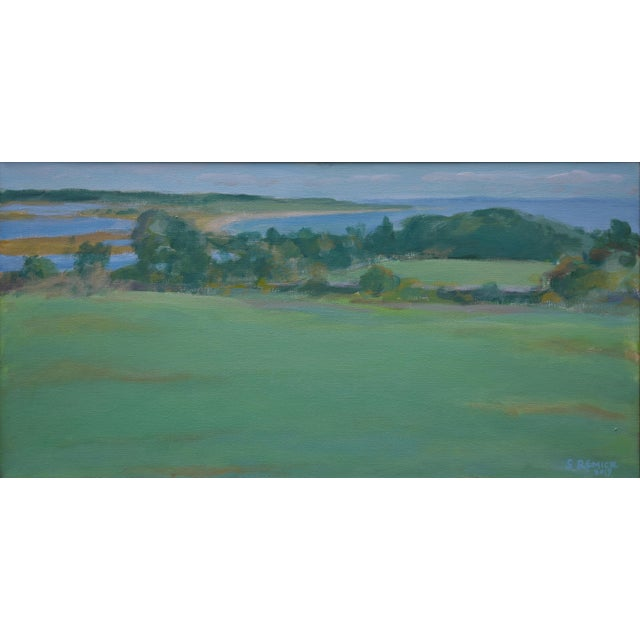 """Green """"Summer Days"""" Stephen Remick Contemporay Plein Air Painting For Sale - Image 8 of 10"""