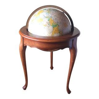 "1970s Replogle Illuminated 16"" Heirloom Globe on Floor Stand For Sale"