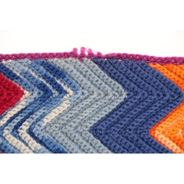 Vintage Chevron Afghan For Sale In Madison - Image 6 of 7