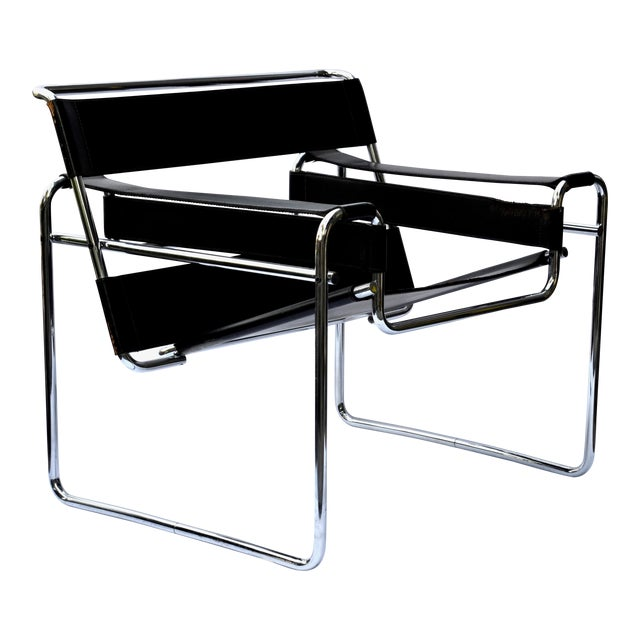 1970s Marcel Breuer Wassily Chair by Knoll For Sale