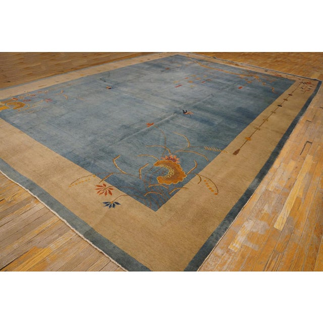 """Antique Chinese Art Deco Rug 12'0"""" X17'6"""" For Sale In New York - Image 6 of 9"""
