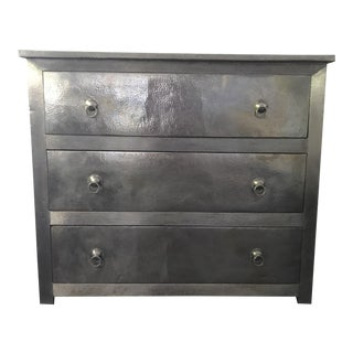 Moroccan Inspired Metal Clad Dresser For Sale