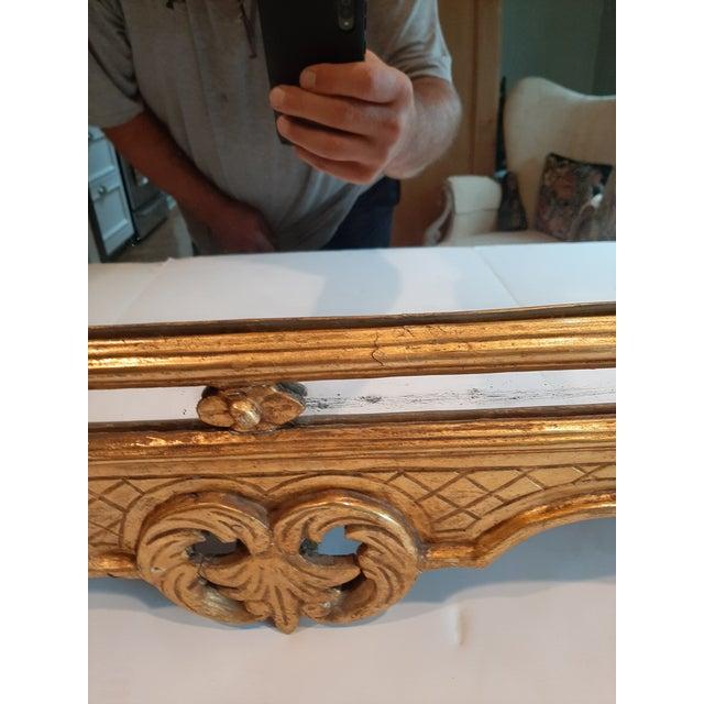 Mid 20th Century Italian Florentine Gilt Wood Mirror For Sale - Image 5 of 10