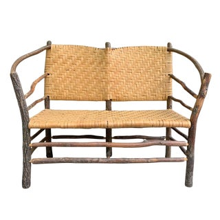 Mid-20th Century Old Hickory Settee For Sale