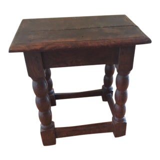 Late 18th Century Antique Farmhouse Joint Stool or Accent Table For Sale